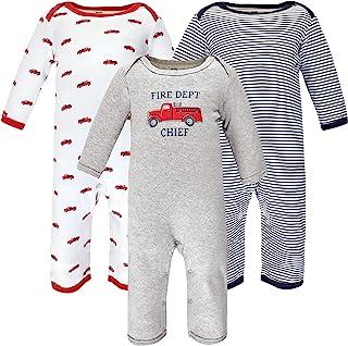 Hudson Baby 男宝宝哈德逊婴儿中性款婴儿棉质工作服,消防车