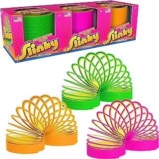 Slinky Brand 原创弹簧玩具,塑料链环,3 只装(多色)