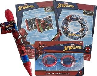 LE Products 蜘蛛侠游泳和泳池玩具(4 件套,蜘蛛侠)