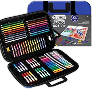 Crayola 绘儿乐 着色素描套装 70 件 + 素描书 儿童礼物 8、9、10、11岁