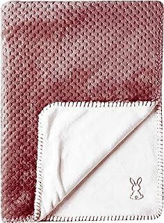 Nattou 877749 毛毯 超柔兔 75 × 100 厘米 Lapidoue 茄子 白色
