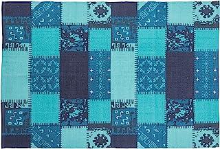 东谷(Azumaya-kk) 小地毯 蓝色 宽130×深190厘米 TTR-132BL