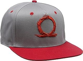 Gaya God of War 刺绣蛇形徽标 后搭扣 灰色/红色 (Ge3487) 棒球帽,灰色(灰色),均码