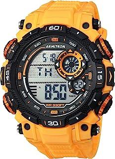 Armitron Sport 男式 40/8397YLW 数字计时表带手表