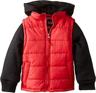 iXtreme Little Boys' 100 Percent Polyester Puffer Vest Hoodie