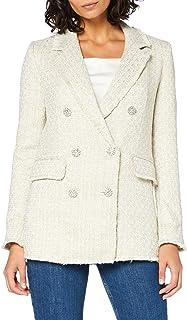 MISS SELFRIDGE 女式金色高级仿羔皮呢外套