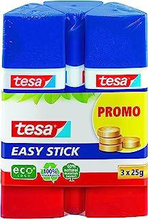 Tesa Easy Stick ecoLogo 三角形胶棒,3 x 25 克,蓝色