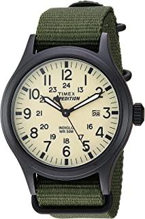 Timex TWC007000 Expedition Scout 男士通带皮革手表