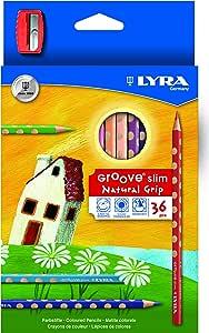 Lyra Groove 铅笔和铅笔刀 Case with 36 Units + Sharpener