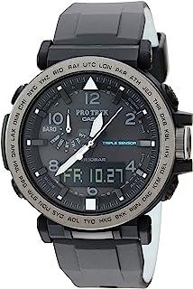 Casio 卡西欧男式'Pro Trek' 太阳能硅胶手表,颜色:黑色(型号:PRG-650Y-1CR)