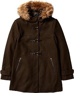 Cole Haan 女士羊毛斜纹短款粗呢大衣