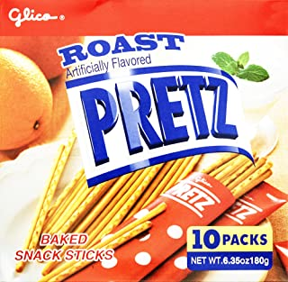 Glico Pretz Roast Baked Snack Sticks, 6.35 Ounce