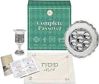 The Complete Passover Seder 多功能一体匹配轿车板和小孩杯 - Matzah 封面 - Haggadah