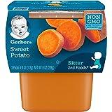 Gerber 嘉宝 阶段2甘薯,4盎司/罐,113克,8盎司/罐,226克,2盒(8包)