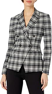 Theory 女式双排扣斜角夹克 Yukon 法兰绒