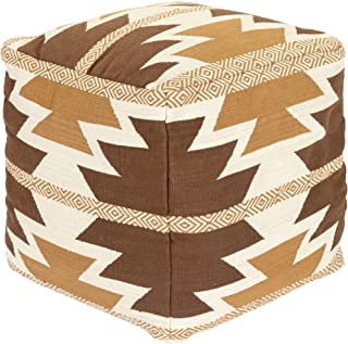 Artistic Weavers Brady 乡村风格小包,高 45.72 厘米,宽 45.72 厘米,棕色,高 45.72 厘米,宽 45.72 厘米,深 45.72 厘米