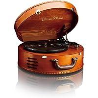 经典电唱机 TT-34 木制外壳(USB 接口,皮带传动,2X 内置扬声器)