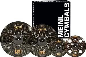 Meinl Cymbals 经典定制深色碰撞和效果套装,带垃圾溅,CCD1068+12