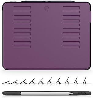 The Muse Case - 2018 iPad Pro 12.9 英寸 *三代(旧型号) - 非常保护但轻薄 + 方便的磁性支架 + */唤醒盖(紫色)(型号 # A1876、A2014、A1895、A1983)