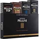 Pellini 礼品盒浓缩咖啡胶囊 – 中度强劲烘焙意大利咖啡胶囊 – Nespresso 兼容,40 粒