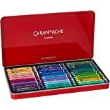 Caran d'Ache 凯兰帝 金属锡制蜡笔,有84种颜色