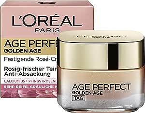 L'Oréal Paris 巴黎欧莱雅 Golden Age Creme 保湿润肤面霜,使肤色红润亮丽,适用于成熟肤质,50ml,粉色