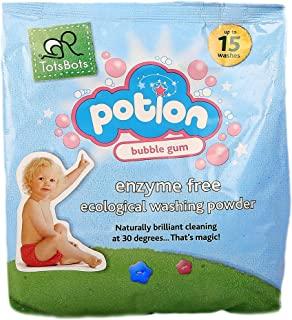 TotsBots - 可重复使用的尿布洗涤药水 - 不含酵素的生态洗涤粉,泡泡糖