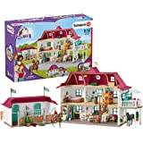 Schleich 思乐 小马俱乐部 70件湖畔乡村娃娃屋和马厩玩具套装,适合 5-12 岁儿童