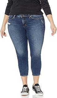 Silver Jeans Co. 女士加大码 Suki 中腰紧身牛仔裤