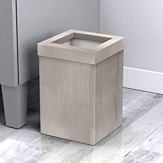 Gatco 1913W 现代方形垃圾篮,木纹饰面