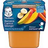 Gerber 2nd Foods Banana Carrot Mango, 4 Ounce Tubs, 2 Count…