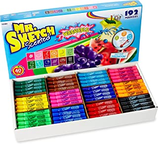 Mr. Sketch Washable Scented Watercolor Markers, Chisel-Tip
