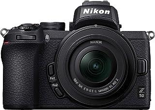 Nikon 尼康 Z50 + Z DX 16-50 毫米无反相机套件(209 点混合 AF,高速图像处理,4K UHD 电影,高分辨率 LCD 显示器)VOA050K001