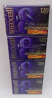 Maxell XR-Metal Professional Quality Hi 8 Camcorder Videotape 4 件装