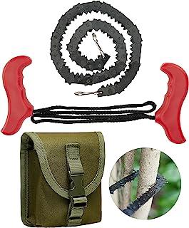 袖珍电锯 53.34 厘米 – 树肢口袋锯,生存绳锯带 46 个锋利牙齿