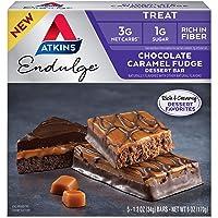 Atkins Endulge Treat Dessert Bar, Chocolate Caramel, Fudge…