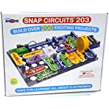 Snap Circuits 203 电路积木玩具,有益于大脑 | 超过200个STEM项目 | 4色项目手册 | 42个…