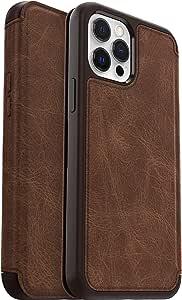 Otterbox Strada – 优雅、防摔对开保护套,由真皮制成,适用于 Apple iPhone 12 Pro Max,棕色