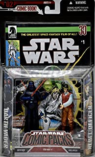 Star Wars - 无。 2 个漫画包 - 达斯维德和反叛军官公仔 - 黑马星大战 1 号漫画 - 限量版 - 薄荷 - 收藏品 - (PR)