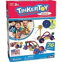 TINKERTOY - Wild Wheels 积木套装 - 76 件 - 适合 3 岁以上儿童 - 学前教育玩具