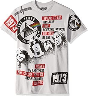 液体蓝粉色弗洛伊德深边 1973 短袖 T 恤