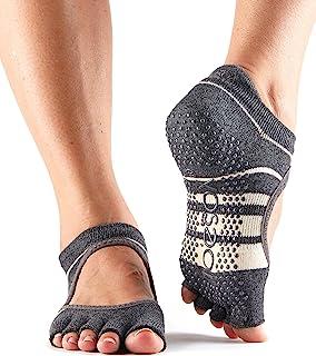 toesox 女式 bellarina Half 头手柄防滑适用于芭蕾, yoga ,普拉提, barre 脚趾袜