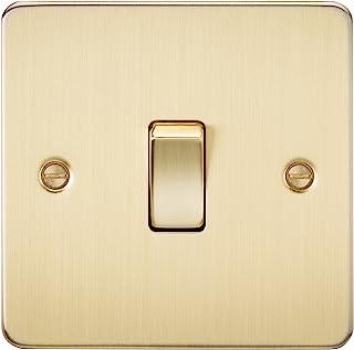 Knightsbridge FP2000BB 拉丝黄铜 FPAV2000BB 平板 10A 1G 双向开关