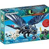 PLAYMOBIL 摩比世界 驯龙高手3:隐秘的世界,如何与Baby Dragon一起训练Dragon III小嗝嗝(H…