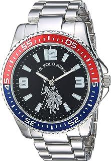 U.S. Polo Assn. 男式石英金属和合金休闲手表,颜色 银色 (型号:USC80500)