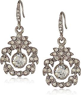 1928 Jewelry 美好时代花环形 女士吊坠银色耳饰 (Downton Abbey旗下子品牌 新老包装随机发货)