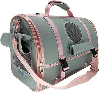 VVVSO 5 合 1 宠物帆布背带适用于猫和小型犬,可折叠柔软侧旅行背包单肩包带网眼窗(*)