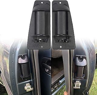 ECOTRIC 一对后门把手兼容 1999-2007 Silverado 和 GMC Sierra 后外部外部皮卡车扩展驾驶室对黑色替换零件编号 15758172 15758171