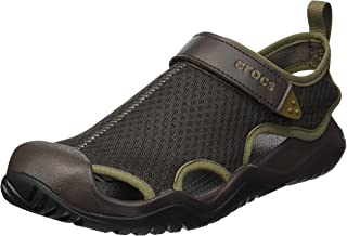 Crocs 卡骆驰 男士Swiftwater网眼闭趾凉鞋