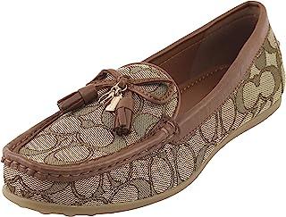 Coach蔻驰女式标志格林威治乐福鞋 8 B 美国女式卡其色/马鞍,款式 FG3450